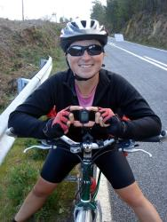 Friedel hits 10,000km on her bike!!