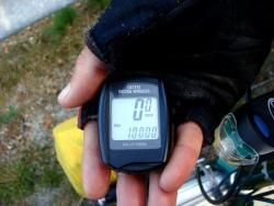 The proof of 10,000km on the bike