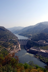 A dam on the Douro, near Freixo de Espada a Cinta