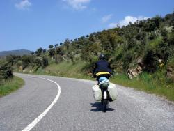 Andrew cruising the roads of Portugal