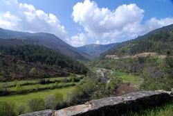 Looking back towards the Serra da Estrela and Manteigas