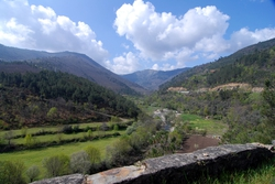 Looking back towards the Serra da Estrela and Manteigas