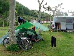 Our tent in St Jean Pied de Port