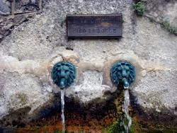 A typical French fountain