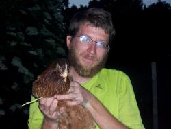 Andrew catches a chicken
