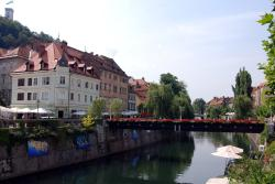 Another pretty bridge in Ljubljana
