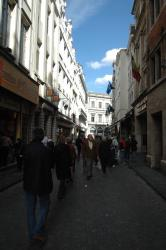 The sunny streets of Brussels