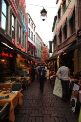 "One of the ""touristy"" restaurant streets"