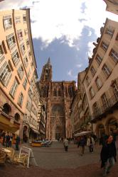 The unfinished Strasbourg Cathedral