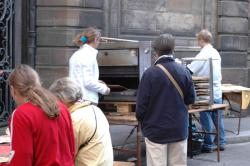 Tarte Flambees in the street