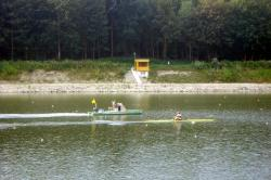Racing kayak on the Danube