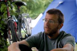 Andrew in Munich campground
