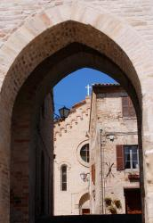 Archway, house, church