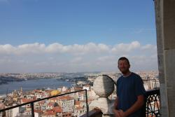 Andrew with a view of Istanbul