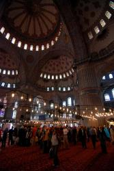 Crowds in the Blue Mosque