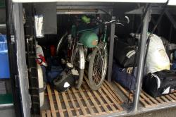 Our bikes on the bus