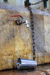 A water tap in Aleppo's souk