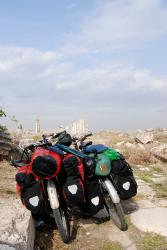 Our bikes at Apamea