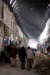 Damascus souk by daylight