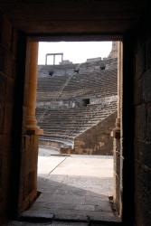 Backstage at Bosra's ampitheatre