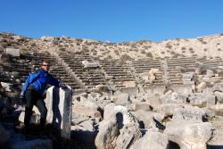 Andrew in the theatre at Nadi Houri