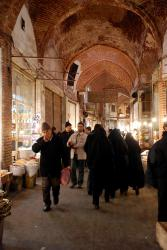 Inside the Tabriz souk