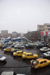 Taxis in the streets of Tabriz