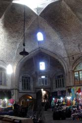 The vaulted ceilings of the bazaar