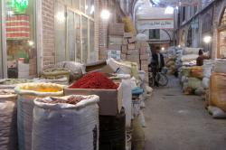 One of the alleys filled with spices