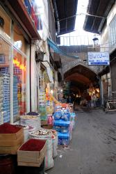 A main walkway in the bazaar of Tabriz