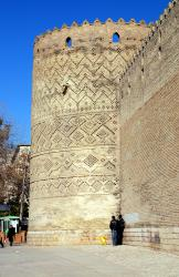 One of the towers on the Shiraz citadel