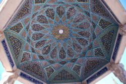 The decorated ceiling of the tomb