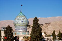 The dome of a shrine in Shiraz