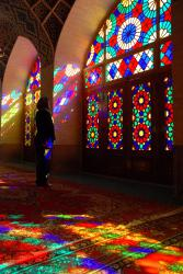 Friedel inside the beautiful mosque
