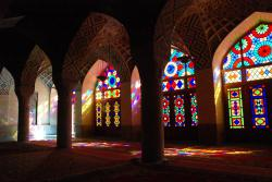 Inside the Nasir al-Mulk mosque