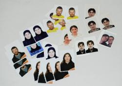A collection of passport photos