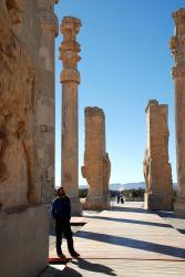 Andrew admiring Persepolis