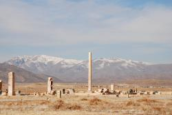 Columns in a barren landscape