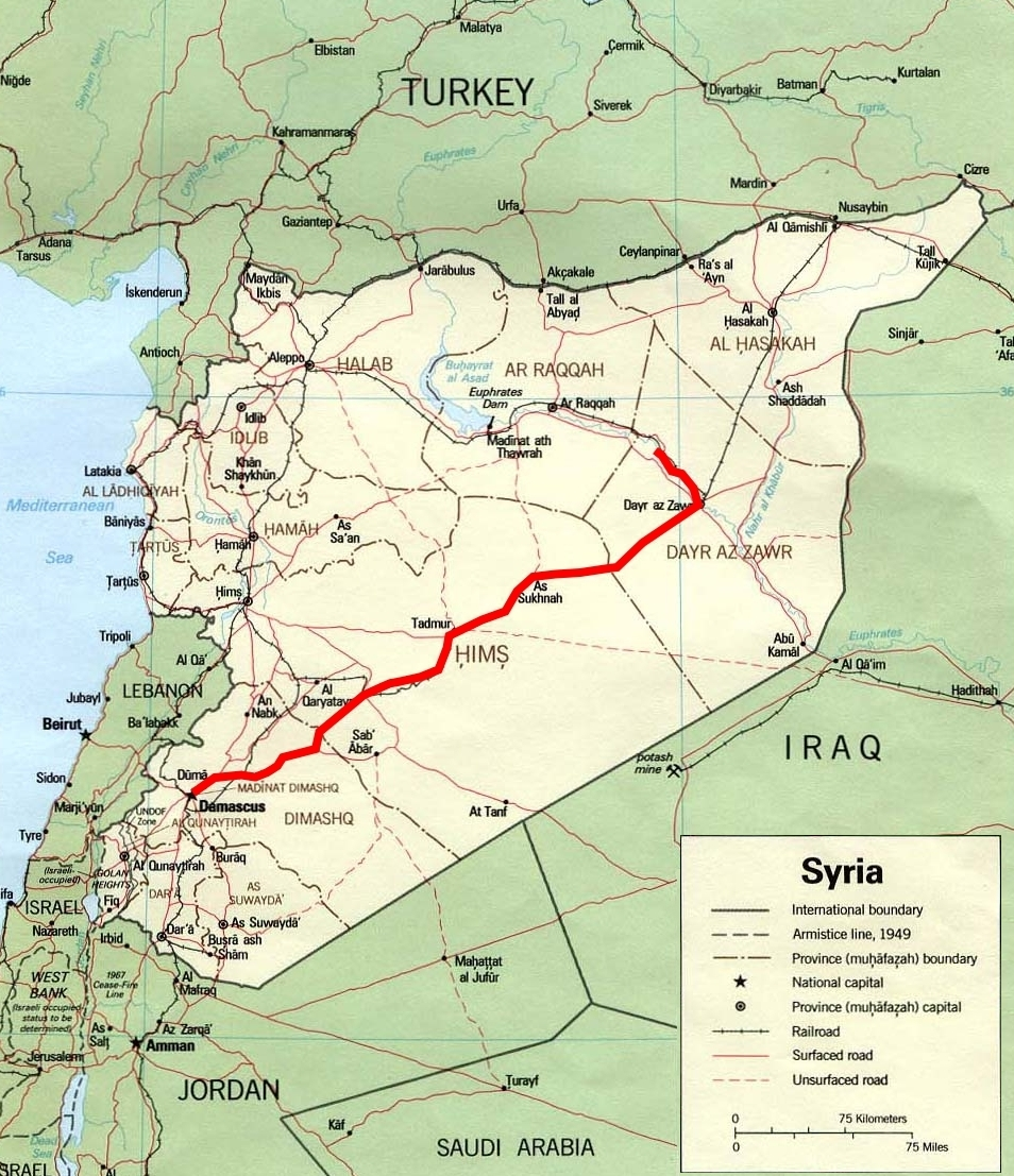 Map: Desert to the Euphrates | TravellingTwo: Bicycle Touring Around ...