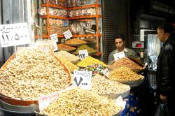 Nuts for sale in Tehran's bazaar