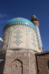 The dome of the small mosque on Kehzr mountain