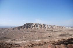 Mountains around Qom are barren