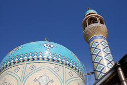 The dome and minaret of the mosque