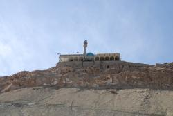 Looking back at the mosque on Kehzr mountain