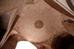The ceiling on the first floor of A'li Qapu Palace