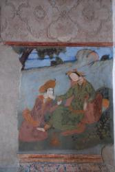 A painting on the wall of Ali Qapu Palace