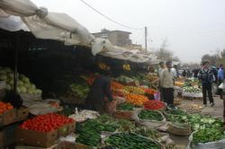 Vegetable market in Neyshabur