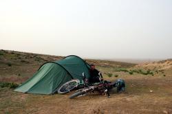 An idyllic camping spot near Mashhad