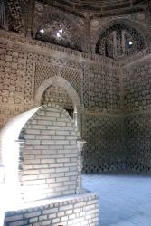 Inside the mausoleum, such detailed brickwork!