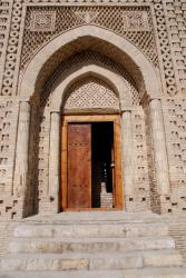 The door to the mausoleum